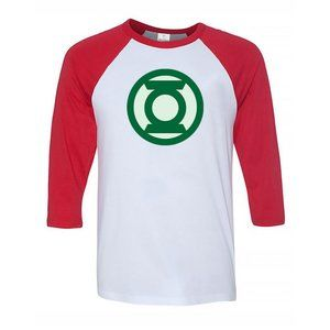 Youth Kids Green Lantern 3/4 Sleeve Baseball Tee